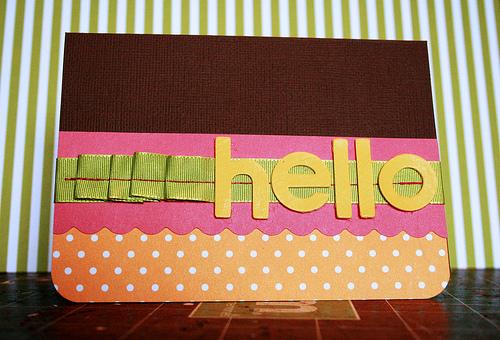 *Hello* card